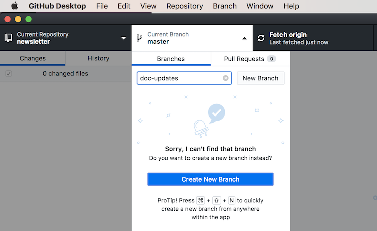 Collaborating with Pull Requests Using the Github Desktop App